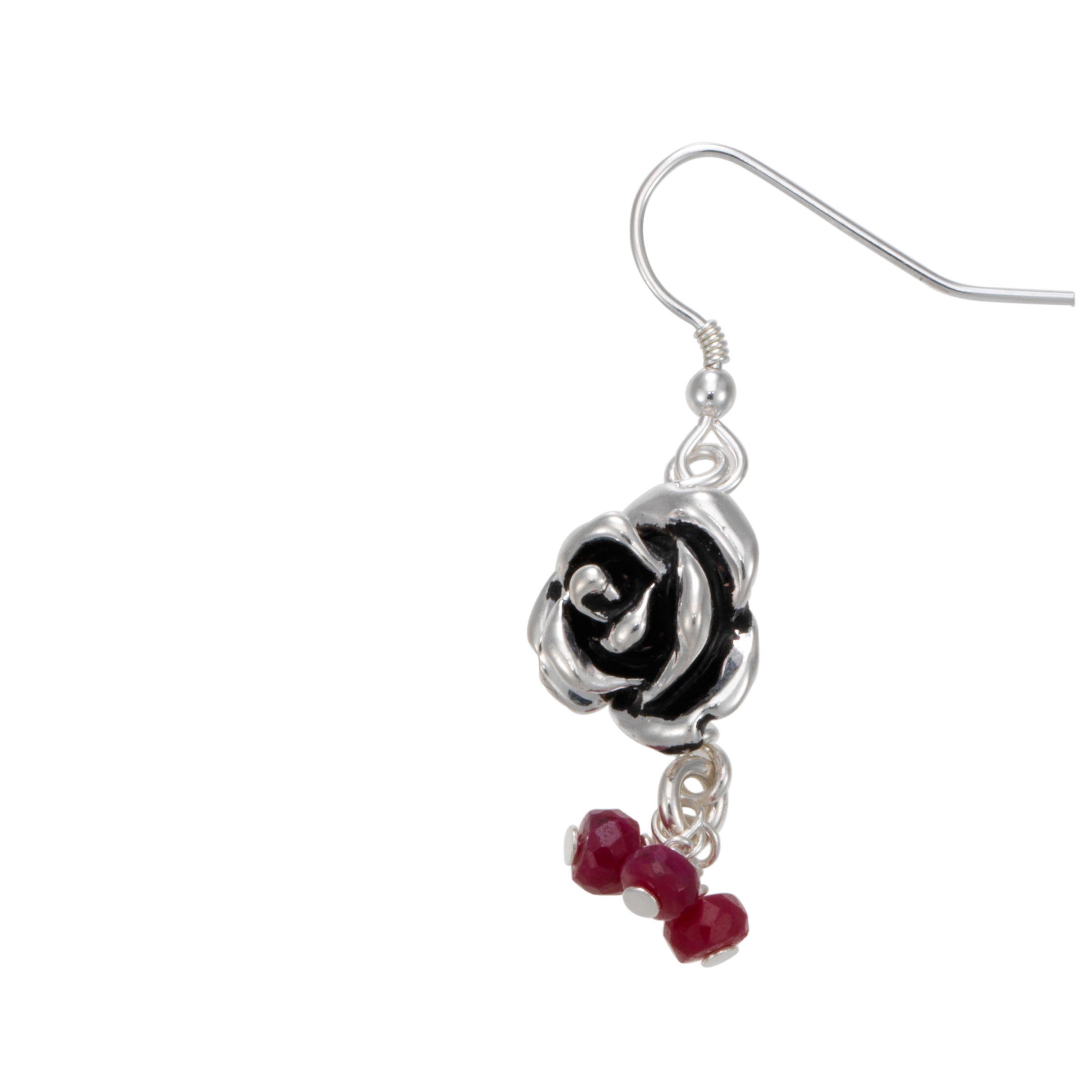 Martick Ruby Rose Earrings