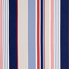 Buy John Lewis Coastal Stripe Fabric, Red/Blue Online at johnlewis.com