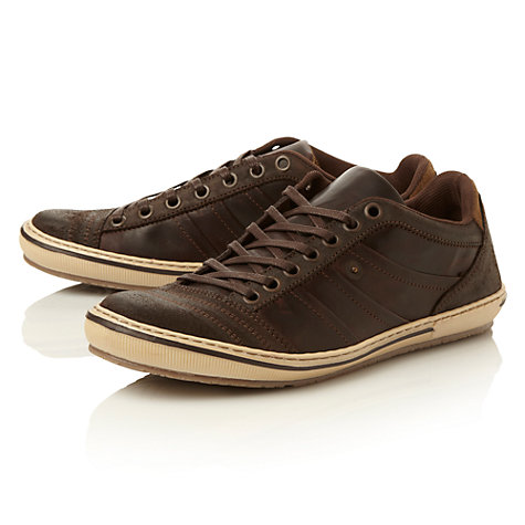 Buy Dune Scribble Leather Trainers Online at johnlewis.com
