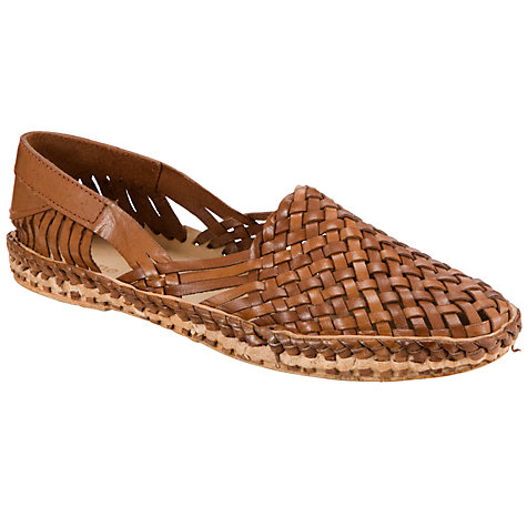 Buy Dune Greece Leather Closed Toe Sandals, Tan Online at johnlewis.com