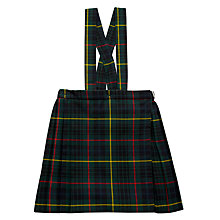 Buy St Louis Primary School Girls' Junior Tartan Strap Kilt, Green/Multi Online at johnlewis.com