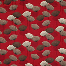 Buy Sanderson Dandelion Clocks Fabric, Red Online at johnlewis.com