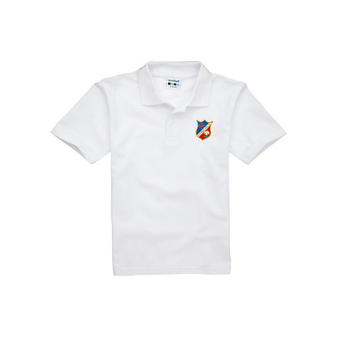 Buy Saint Christina's School Unisex Polo Shirt, White Online at johnlewis.com