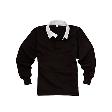 Buy School Boys' Rugby Jersey, Black/Amber Online at johnlewis.com