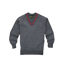 Buy Lochinver House School Boys' Wool Mix Jumper, Grey/Pink Online at johnlewis.com