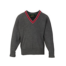 Buy Lochinver House School Boys' Jumper, Grey/Pink Online at johnlewis.com