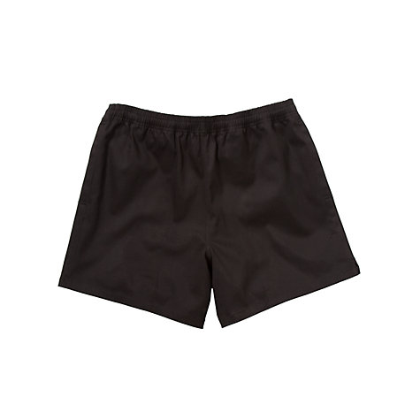 Buy School Rugby Shorts, Black Online at johnlewis.com