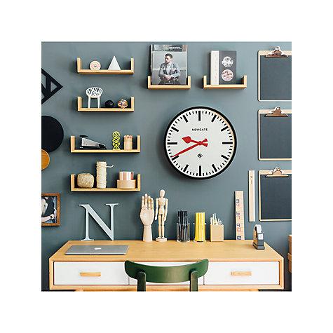 Buy Newgate Putney Wall Clock Dia 45cm Black John Lewis