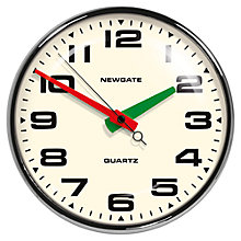Buy Newgate Brixton Wall Clock, Dia.40cm, Chrome Online at johnlewis.com