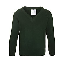 Buy Plain Unisex School Jumper, Bottle Green Online at johnlewis.com