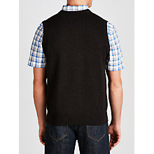 Buy Gant Solid Cotton V-Neck Tank Top, Grey Online at johnlewis.com