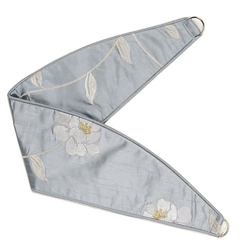 Buy John Lewis Pemberley Rose Tiebacks, Duck Egg Online at johnlewis.com