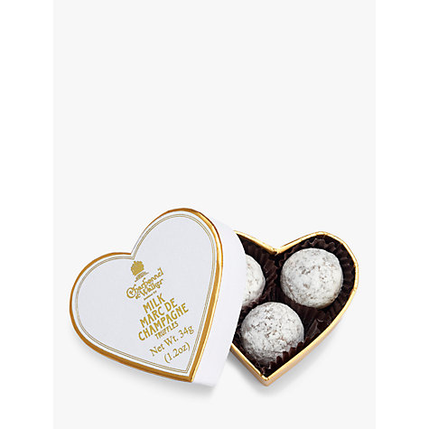 Buy Charbonnel et Walker Mini White Heart with Milk Chocolate Champagne Truffles, 34g Online at johnlewis.com