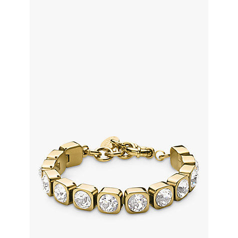 Buy Dyrberg/Kern Conian Gold Single Crystal Bracelet Online at johnlewis.com