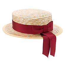 Buy School Girls' Summer Boater Hat Online at johnlewis.com