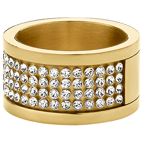 Buy Dyrberg/Kern Emily Gold Crystal Band Ring Online at johnlewis.com