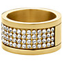 Dyrberg/Kern Emily Gold Crystal Band Ring