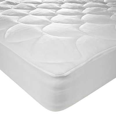 John Lewis Super Soft Reversible Mattress Enhancer, Depth 32cm