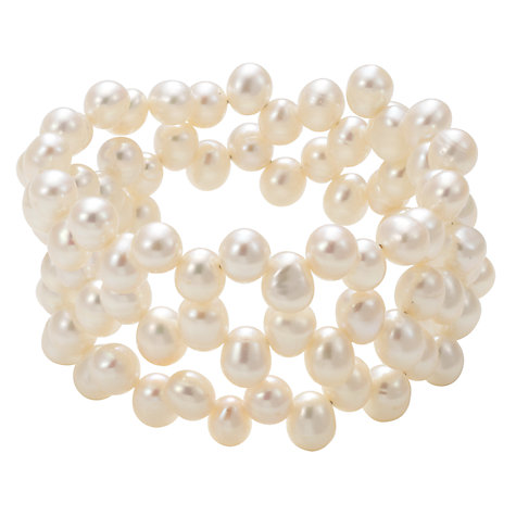 Buy Lido Pearls White Wire Pearl Bracelet Online at johnlewis.com