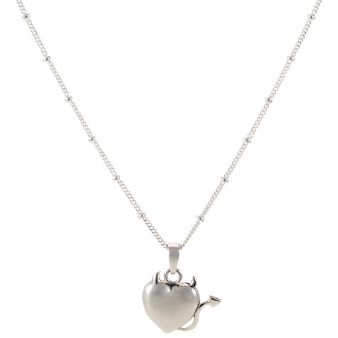 Buy Martick Temptation Silver Heart Pendant Necklace Online at johnlewis.com