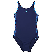 Buy Speedo Superiority Swimsuit, Navy Blue Online at johnlewis.com