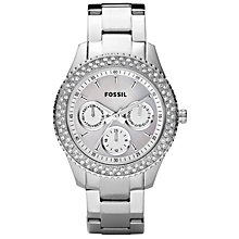 Buy Fossil ES2860 Women's Round Silver Dial Stainless Steel Bracelet Watch Online at johnlewis.com