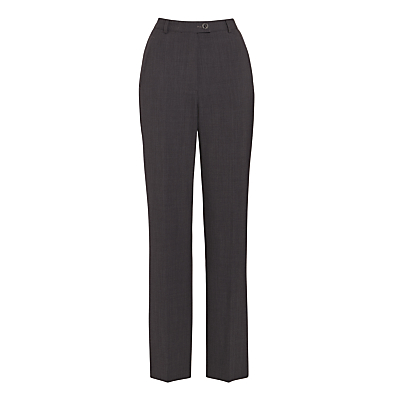 Gardeur City Straight Leg High Rise Trousers, Grey