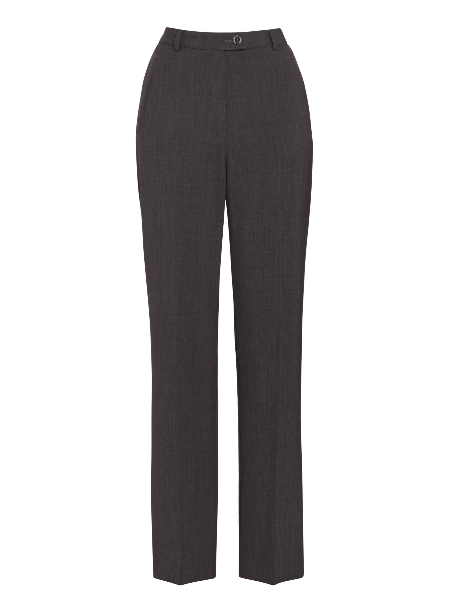 Gardeur Gardeur City Straight Leg High Rise Trousers, Grey
