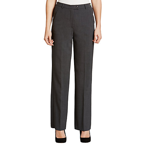 Buy Gardeur City Straight Leg High Rise Trousers, Grey Online at johnlewis.com