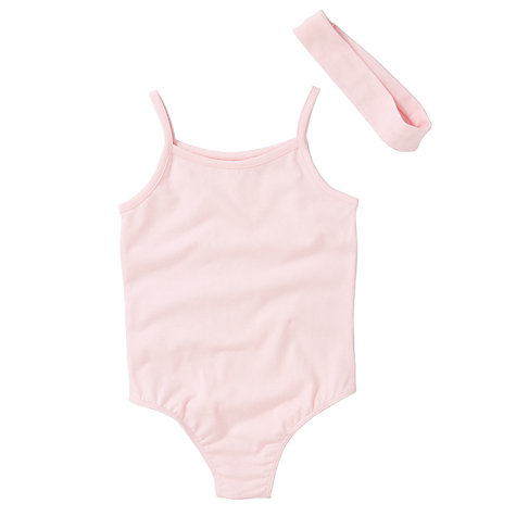 Buy John Lewis Girl Leotard and Headband Set, Pink Online at johnlewis.com