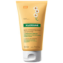 Buy Klorane Camomile Conditioner for Blonde Highlights, 150ml Online at johnlewis.com