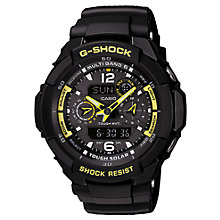 Buy Casio GW-3500B-1AER Men's G-Shock Aviation Multi-Mission Strap Watch Online at johnlewis.com