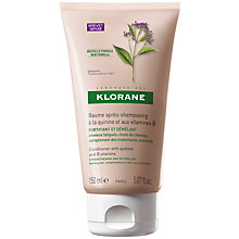 Buy Klorane Quinine Conditioning Balm for Thinning Hair, 150ml Online at johnlewis.com