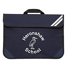 Buy Heronshaw School Unisex Book Bag, Navy Online at johnlewis.com