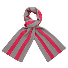 Buy Lochinver House School Scarf, Grey/Pink Online at johnlewis.com