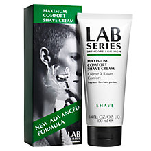 Buy Lab Series Maximum Comfort Shave Cream, 100ml Online at johnlewis.com