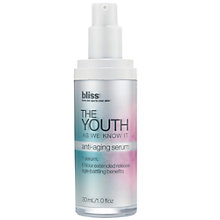 Buy Bliss® The Youth As We Know It Anti-Aging Serum, 30ml Online at johnlewis.com
