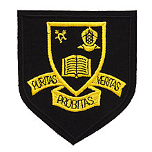 Buy Keble Preparatory School Boys' Blazer Badge, Black/Yellow Online at johnlewis.com