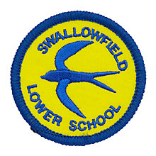 Buy Swallowfield Lower School Unisex Badge, Yellow/Blue Online at johnlewis.com