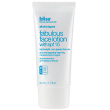 Buy Bliss® Fabulous Face Lotion with SPF15, 50ml Online at johnlewis.com