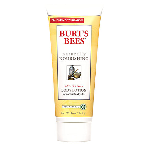 Buy Burt's Bees Naturally Nourishing Milk & Honey Body Lotion, 170g Online at johnlewis.com