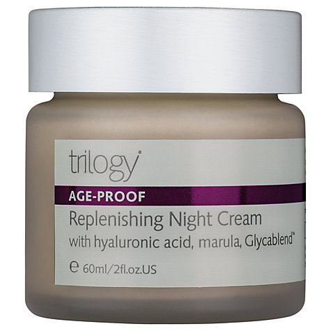 Buy Trilogy Replenishing Night Cream, 60g Online at johnlewis.com