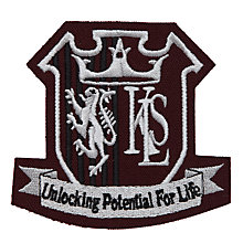 Buy Kings Langley Secondary School Unisex Blazer Badge, Maroon Multi Online at johnlewis.com