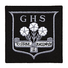 Buy Grittleton House School Unisex Senior Blazer Badge, Black Multi Online at johnlewis.com