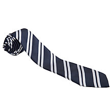 Buy St George's School Unisex Tie, Navy/Silver Online at johnlewis.com
