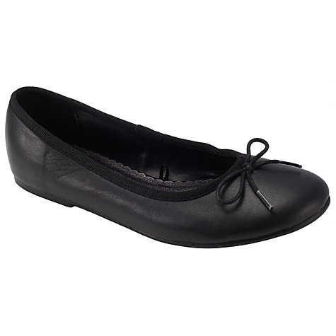Buy John Lewis Girl Ballerina Pumps, Black Online at johnlewis.com