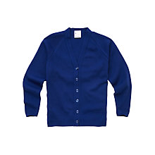 Buy Girls' School Cardigan, Royal Blue Online at johnlewis.com