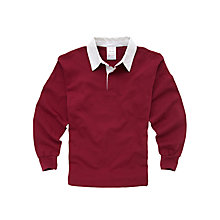 Buy Tockington Manor School Boys' Rugby Shirt, Maroon Online at johnlewis.com