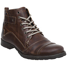Buy Dune Simon Leather Lace Up Boots Online at johnlewis.com