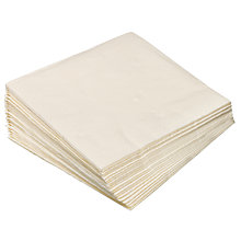 Buy John Lewis 3 Ply Paper Napkins, Pack of 20 Online at johnlewis.com